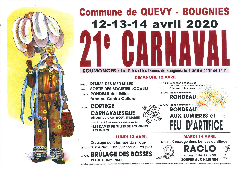 carnaval de bougnies 2020